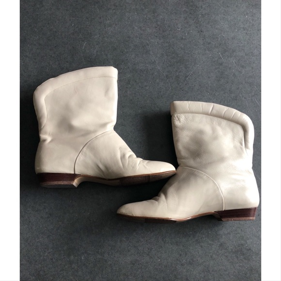 Leather Flat Ankle Boots | Poshmark